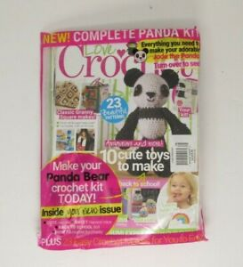 Love of Crochet Magazine September 2019 with Cute Panda Bear Kit