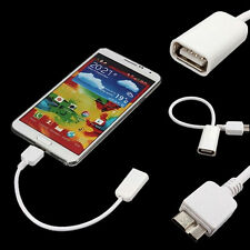 OTG Data Cable Cord USB 3.0 A Female to Micro B Male for Samsung Galaxy Note3 S5
