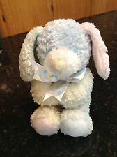 FIRST & MAIN Pastel Puppy Dog Rattle Plush Stuffed Animal Lovey Baby Toy