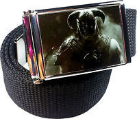 Skyrim Belt Buckle Bottle Opener Adjustable Web Belt