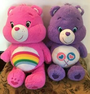 """2015 Those Characters From Cleveland Purple & Pink 20"""" Care Bears"""