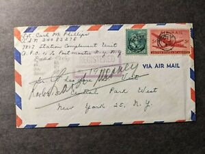 APO 1 BAD TOLZ, GERMANY 1948 Registered Army Cover 7817 Station Unit w/ letter