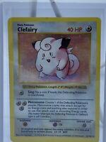 Pokémon Base Set Clefairy Shadowless Holo | 5/102 | Very Played Condition | Rare