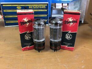2 1950's NOS GE General Electric Black Plate 6L6GB 6L6 Vacuum tubes Guaranteed!
