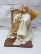 Gemmy Animated Angel At Her Harp Christmas Musical Decor With Stand