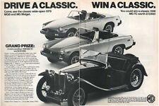 1979 MG MGB Midget including a 1948 MG TC PRINT AD T