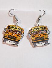 School Bus Earrings Bus Driver Children Charms