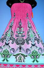 NWT Stretchy Summer Sun Dress Sundress New Clothes Women's Size M Medium 5 6 7 8
