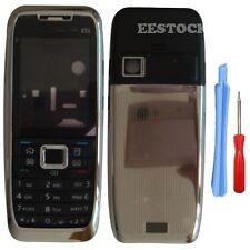 Silver Black Fascia Full Housing Case Cover Faceplate Keypad for Nokia E51 +Tool