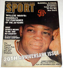 SPORT September 1966 WILLIE MAYS cover * Negro in Sports article JACKIE ROBINSON