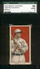 T206 RED MURRAY BATTING, NY NATL, SWEET CAPORAL SGC 50 VG-EX