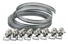 8mm ADJUSTABLE STAINLESS STEEL UNIVERSAL LONG PIPE HOSE CLIP CLAMP BAND (55591)