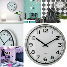 PUGG Stainless Steel Wall Clock Silent Quartz Movement Analogue Stylish Look