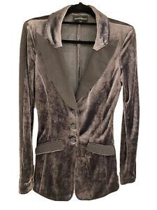 Designer Emporio Armani Size 8 to 10 AU Mushroom Velvet Women's Jacket