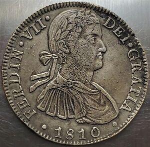 8 Reales 1810 HJ Fernando VII Mexico SPANISH COLONY High Grade !! KM# 111