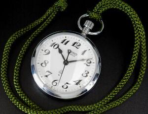 Seiko Quartz Japan Railway 1978 Vintage 50mm Pocket Watch 7550 reloj uhr montre