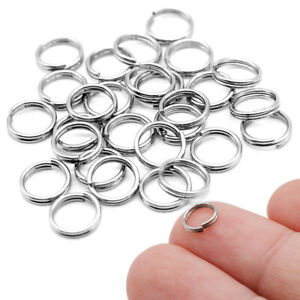 100pcs Split Rings Small Key Rings Bulk Keychain Rings for Keys Organization