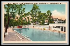 WEEPING WILLOW SWIMMING POOL, HENDERSONVILLE NORTH CAROLINA, Linen 1946