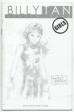 Billy Tan Sketchbook Girls 2006 VF X-23 Sketch Wolverine Signed Catwoman Black C