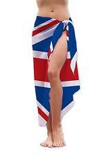 Bandera Reino Unido Diseño Medio Largo Chifón Sarong Traje de baño Beach