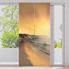 "Schiebevorhang ""Sonnenuntergang am Strand"" 2-tl. je 60x245cm | Flächenvorhang"