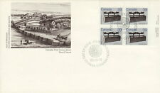 CANADA #928 39¢ HERITAGE ARTIFACTS SETTLE BED UR PLATE BLOCK FIRST DAY COVER