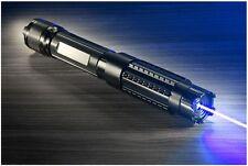Powerful Blue 445nm Laser Pointer Pen Visible Beam Adjustable Focus Burning Case