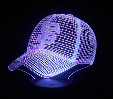 7 Color Change MLB SF Giants Cap 3D Visual Night Light USB Acrylic Table Lamp