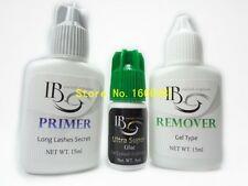1 set Eyelash Extensions Kit Primer Glue Adhesive Remover for Eyelash Extension