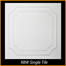 R8 lot of 24pcs White Styrofoam Glue Up Ceiling Tiles !!!!!