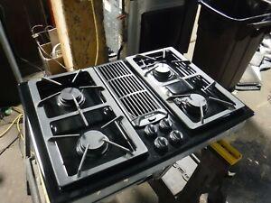 """Jenn Air Downdraft Gas 30"""" Cooktop 4 Burners Grill & Griddle JGD8130ADB21"""