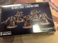 40K Warhammer Death Guard Blightlord Terminators NIB Sealed