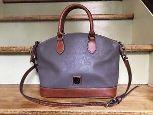NWT Dooney & Bourke Pebble Grain Leather Darcy Satchel-RO239EL-Elephant