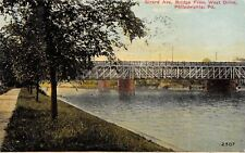 Philadelphia Pennsylvania~Girard Avenue Bridge at West Drive~1911 Postcard