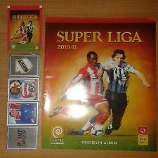SERBIAN FOOTBALL LEAGUE 2010/11 - EMPTY ALBUM + COMPLETE STICKERS SET + BAG