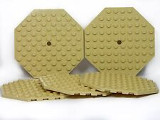 LEGO Large Plates Octagonal TAN # 10x10 # pack of 5 # flat base plate # NEW +