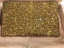Prada Sequin Metal Clutch Gold and Bronze
