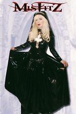 Misfitz pvc black crucifix Nuns gothic ballgown sizes 8-32 or made to measure