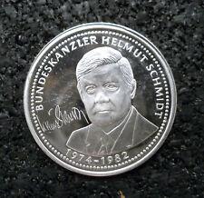 """Medaille Kanzler Helmut Schmidt Serie """"Die grössten Deutschen"""" MDM (ut20n716)"""