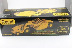 1/24 john deere 840 diesel 400 Elevating Scraper Diecast By Reuhl Special price!