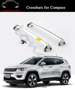 Fits for Jeep Compass 2017-2020 Roof Rail Cross Bars Crossbars Carrier Racks