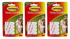 36 X 3M COMMAND SMALL POSTER ADHESIVE HANGING STRIPS DAMAGE FREE