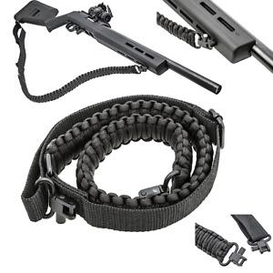 Black Paracord 550 Rifle Shotgun Crossbow Gun Sling Tactical Adjustable Swivels
