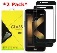 2-Pack FULL COVER Tempered Glass Screen Protector For LG K20 Plus/K20 V/Harmony