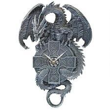Celtic Cross Dragon Wall Clock Quartz Movement Timepiece