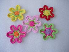 CR11-11 Crochet Flower Applique Motif Sewing/Trims/Craft Assorted 10pcs