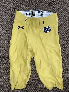 2014 UNDER ARMOUR TEAM ISSUED NOTRE DAME FOOTBALL PANTS #53
