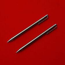 2 Pcs Zebra TS-3 Mini Mechanical Pencil 0.5mm Silver Made In Japan