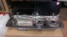 Smev Dometic 9222 Campervan sink and twin hob cooker combi unit with cold tap LH