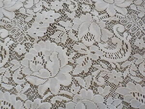 EUC! JC Penney Home Floral  Roses Lace Curtain Panels 64 x 60